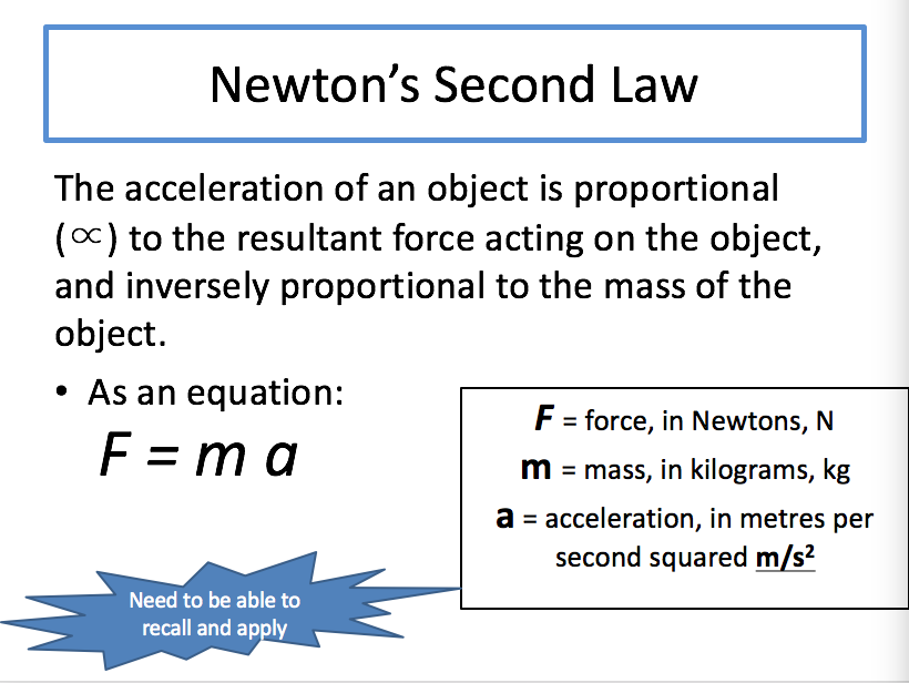 Newton's Laws of motion Skeleton PP for AQA Combined Science (Physics topic 6.5.4.2)