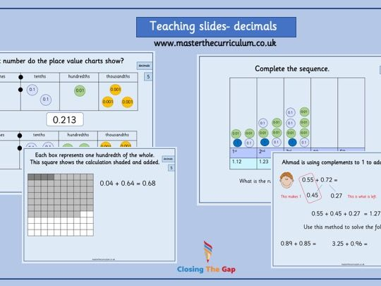 Year 5- Decimal teaching slides- White rose style