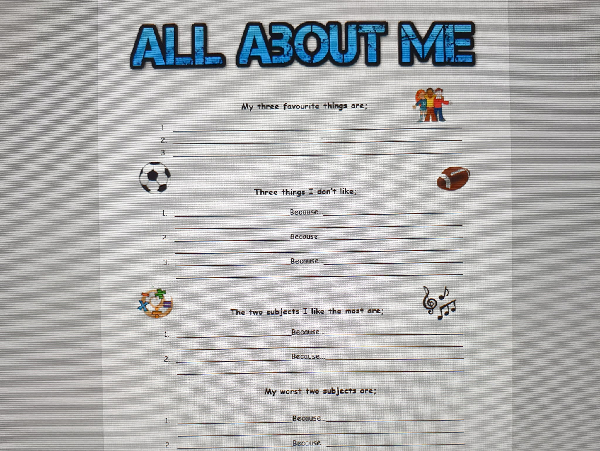 Student reflective journal booklet - how to support me