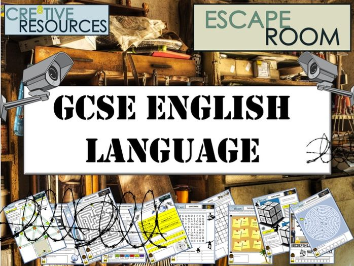 GCSE English Language Escape Room - End of Term