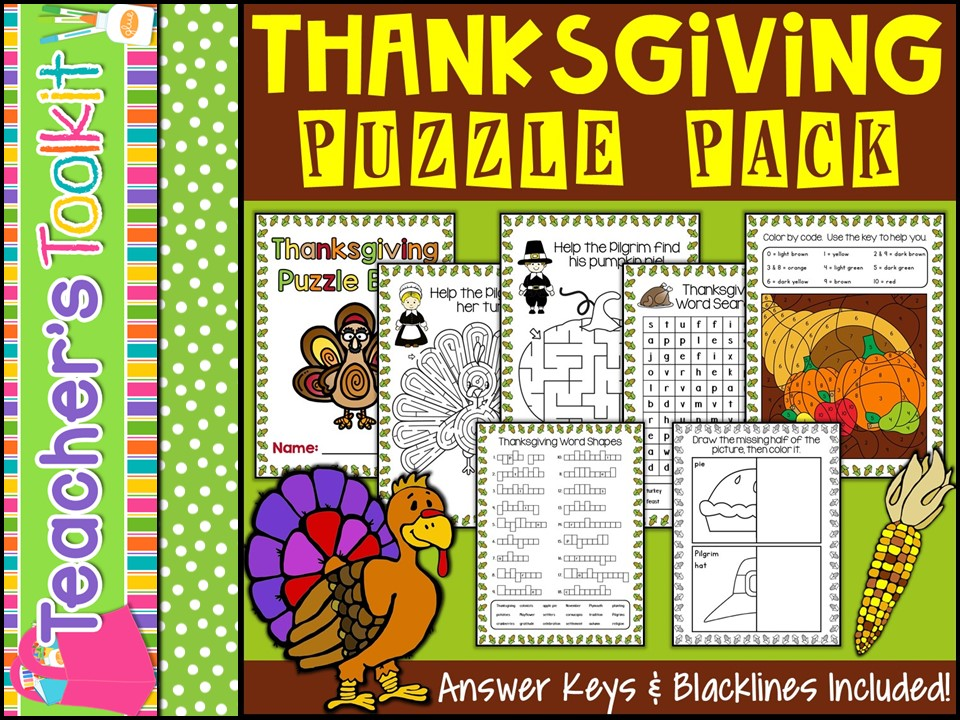 Thanksgiving Puzzle Pack {US}