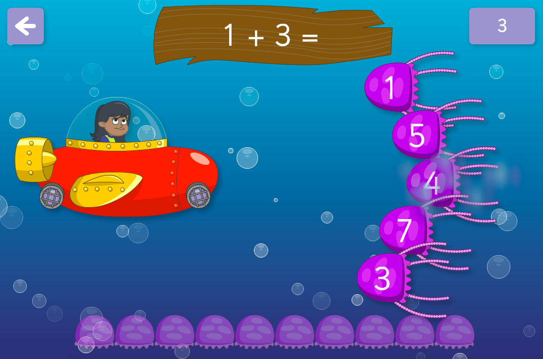 Addition to 100 - Dodge the Jellyfish Interactive Game - KS1 Number
