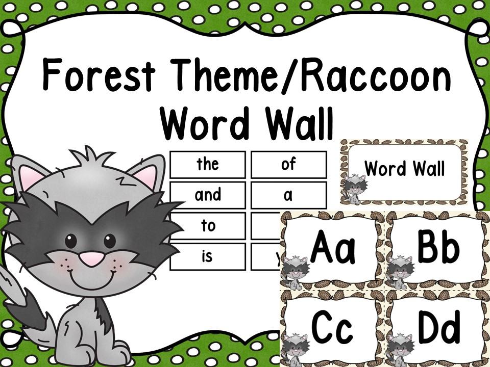 Forest Word Wall & 200 Fry Words Editable