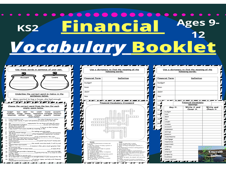 Financial Vocabulary Booklet