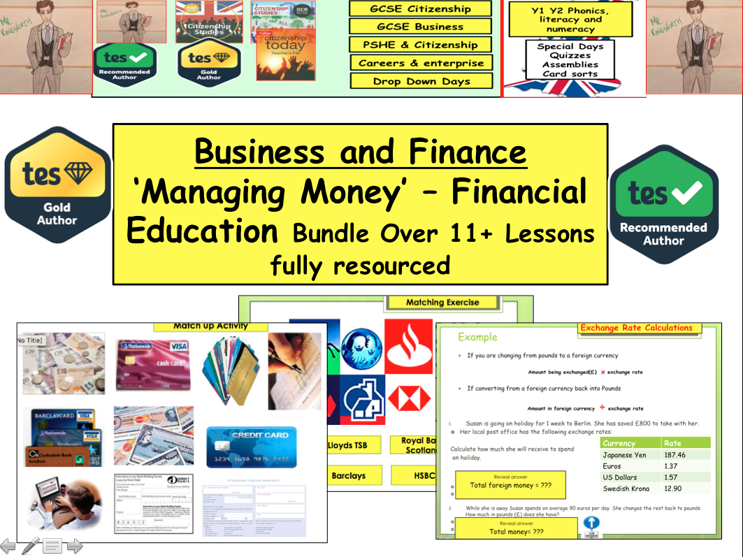 Financial Education - Managing Money and Personal Finance lots of lessons