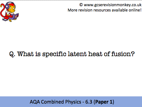 Revision Cards - AQA Combined Physics 6.3