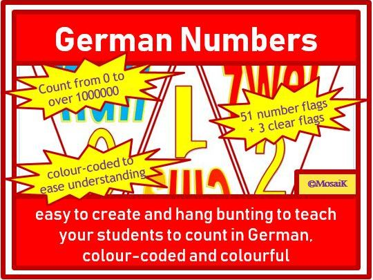 German Bunting: Practise counting from 0 to over 1 million
