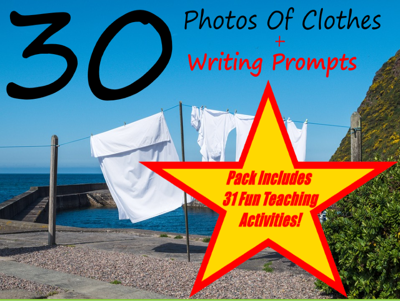 Clothes Visual Prompt Stories + 31 Fun Teaching Activities For These Cards