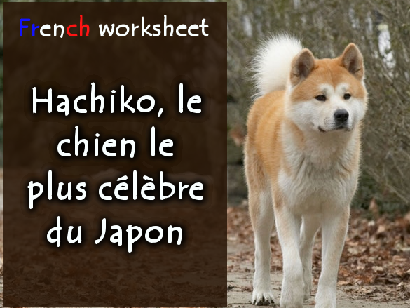 "Written comprehension (French) / Compréhension écrite : ""Hachiko, le chien le plus célèbre du Japon"""