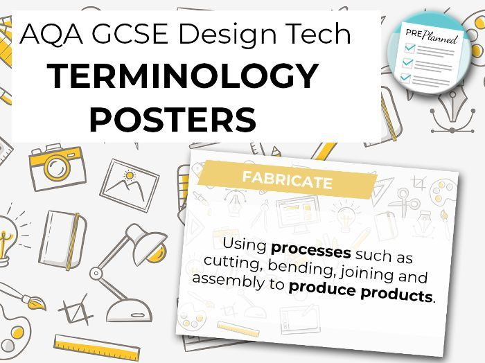 AQA GCSE Design Technology Terminology Posters