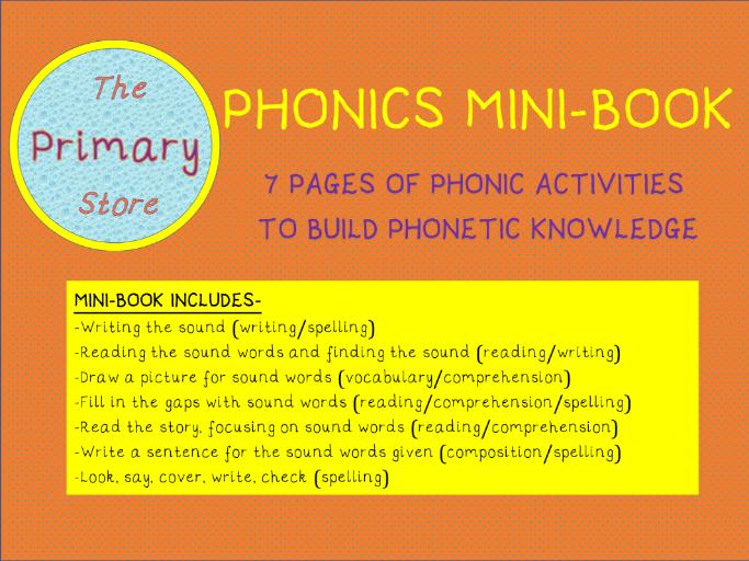 OO (long oo sound) PHONICS SOUND MINI-BOOK