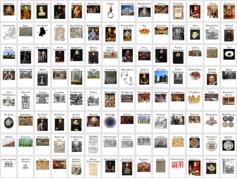 Elizabethan England: 137 Key word prompt cards