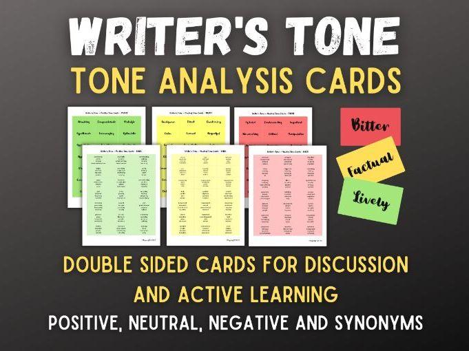 Writer's Tone   Analysis of Language   Author Purpose   Printable Vocab Cards