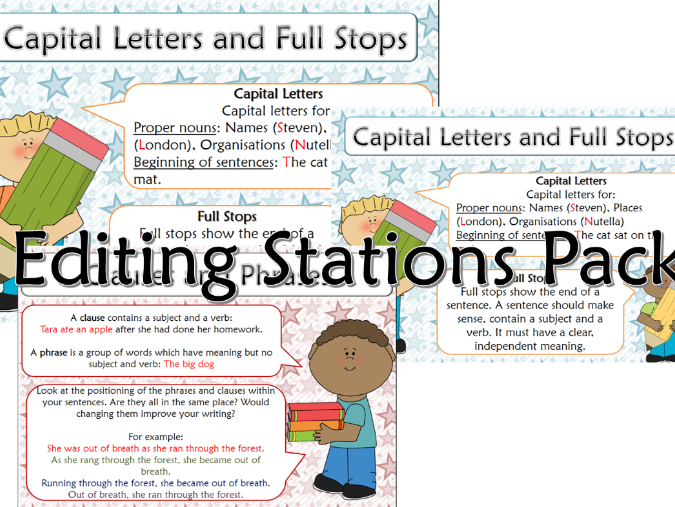 Ks2 writing editing stations by heatherjward87 teaching editable editing stations pack spiritdancerdesigns Images