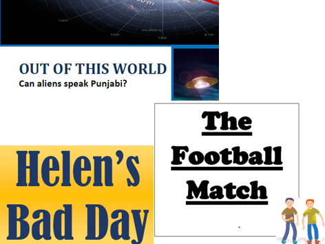 Teaching reading to EAL students - Helen's Bad Day, The Football Match, Out of this World