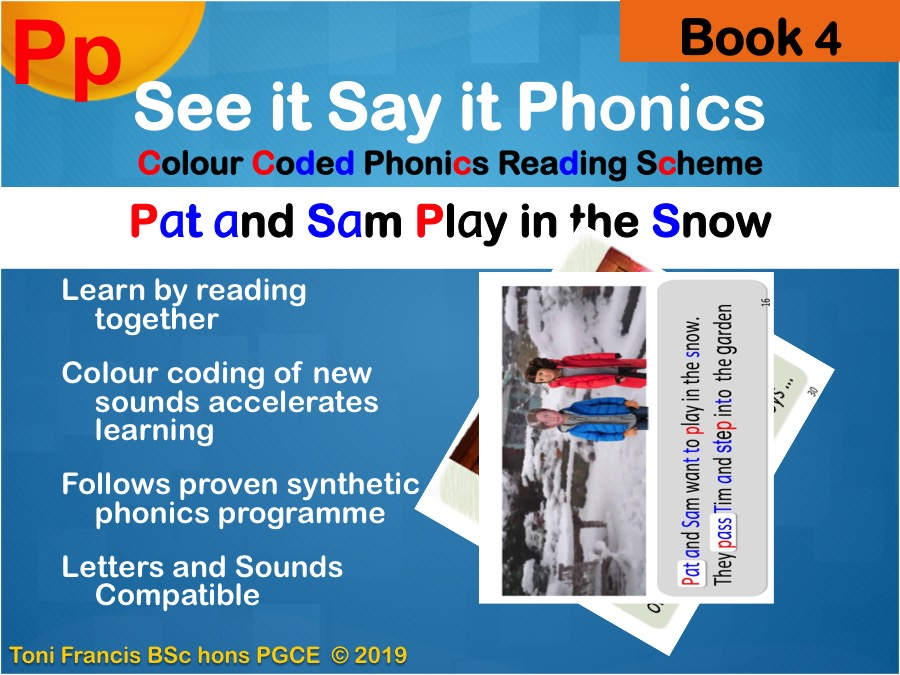 """phonics reading scheme book 4 'P"""" for whole class guided reading whiteboard iPad"""