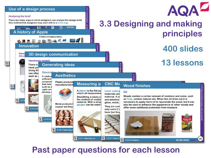 AQA GCSE Design and Technology 3.3: Designing and making principles