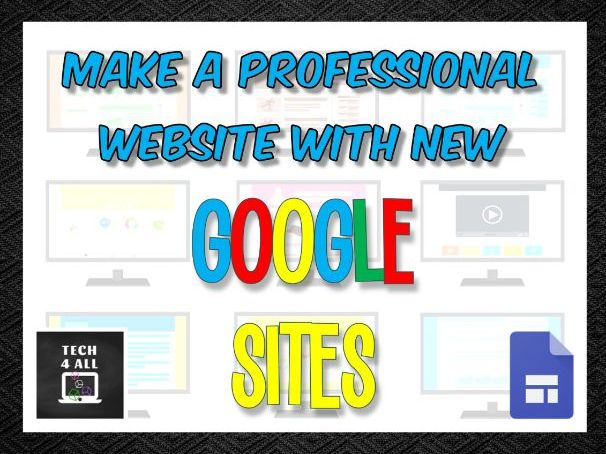 Create a professional website with Google Sites