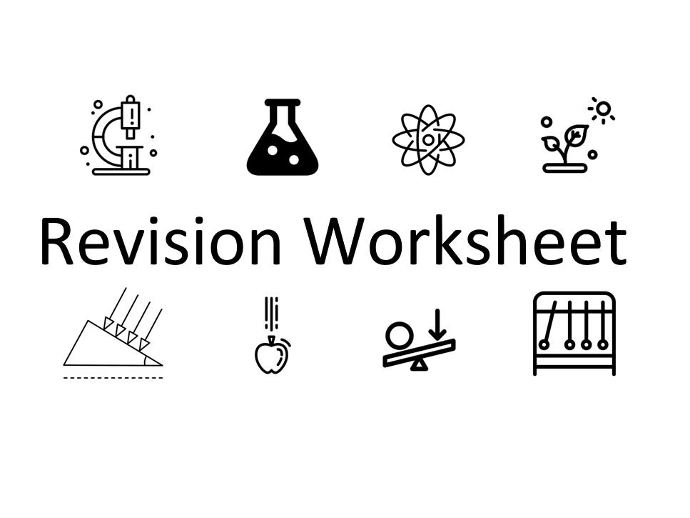 KS4 Revision Worksheets - Chemistry