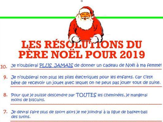French: résolutions pour 2019