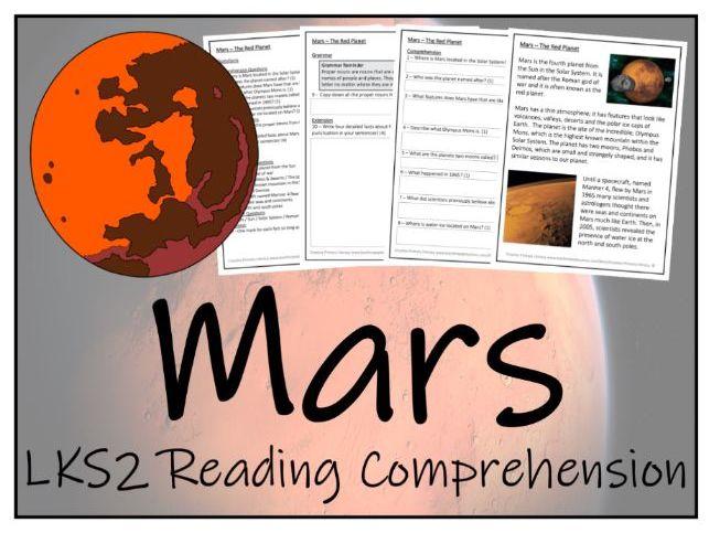 LKS2 History - Mars Reading Comprehension Activity