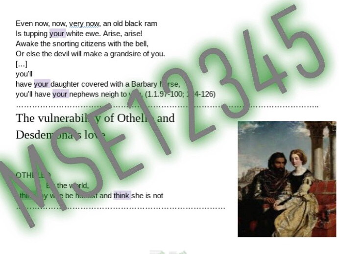 Othello A level revision workbook