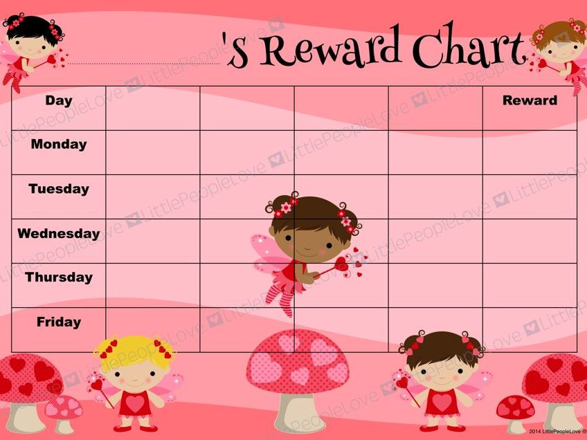 Reward Chart - Fairy