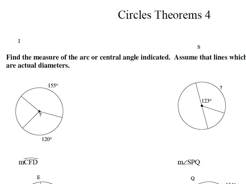 GCSE Maths Revision Circle Theorems 4