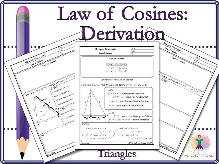 Law of Cosines: Derivation