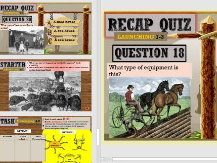 Lesson 14 GCSE Edexcel (1-9) American West - Impact of railroads, cattle ranches and prospecting