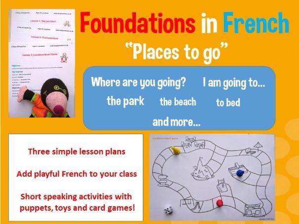 Places in French - I am going to... 3 lesson plan bundle