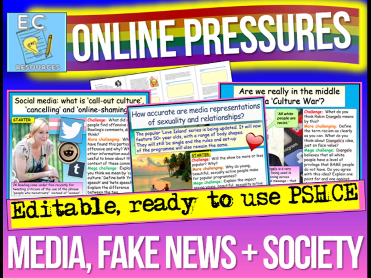 Online Pressures PSHE