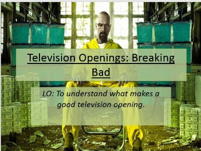 Media Studies - CW assignment 1: Breaking Bad - television openings.