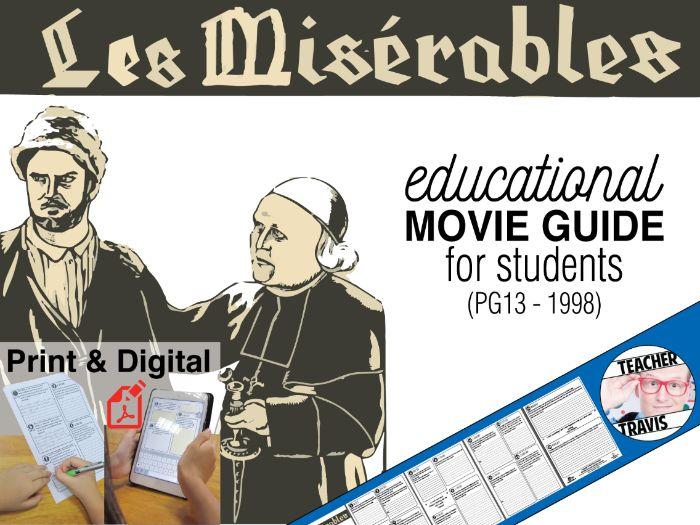 Les Misérables Movie Guide   Questions   Worksheet (PG13 - 1998)