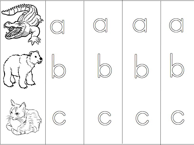 Animal alphabet - Print Handwriting Practice