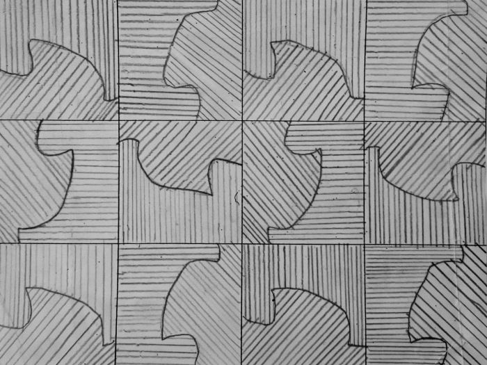 Creating patterns inspired by MC Escher full art project