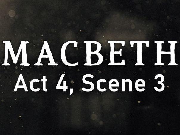 Line by Line: Macbeth (4.3)