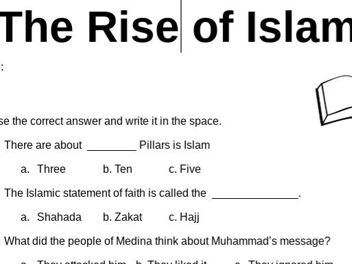 Free Rise of Islam Worksheet
