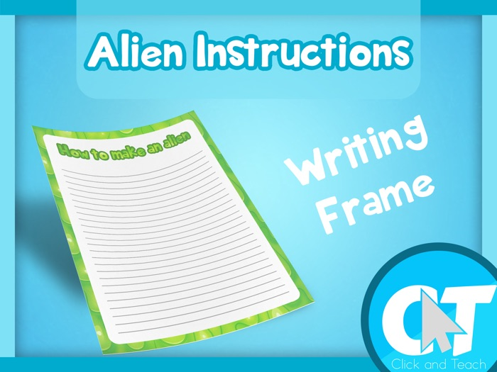 How to make an Alien - Writing Frame Page Border