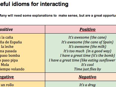 KS3---Viñales-Spanish---Idioms-for-Speaking---Sentence-Builder