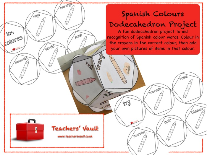 Spanish Colours Dodecahedron Project