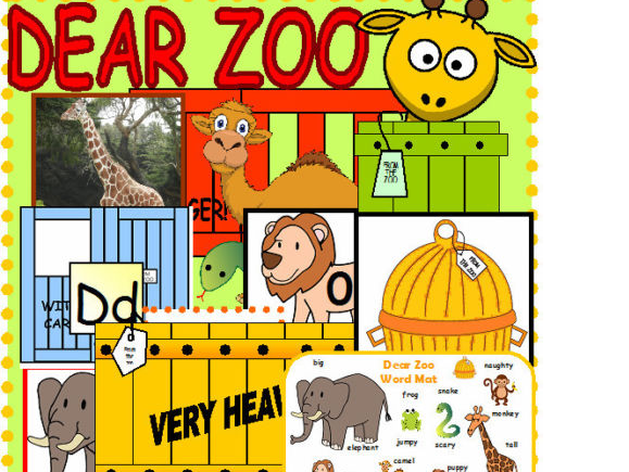 Dear Zoo Writing Maths and Display EYFS