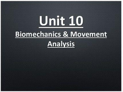 Cambridge Technical Sport  Unit 10: