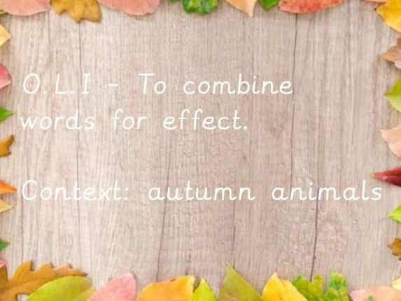 Autumn animals poem