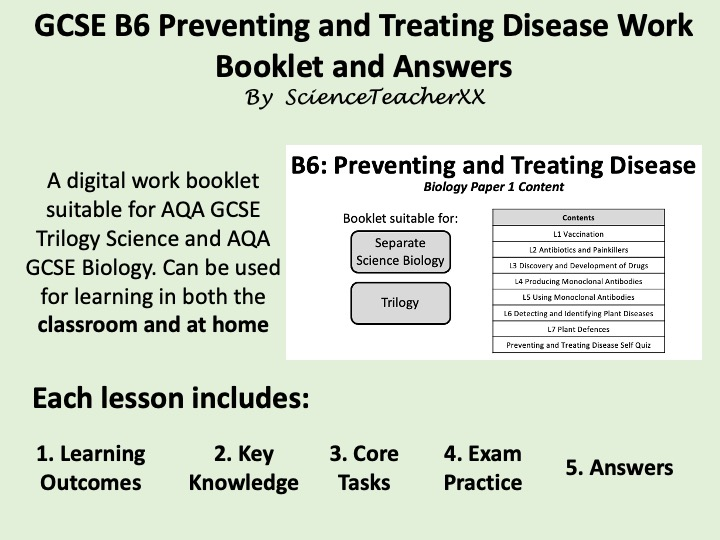 B6 Preventing and Treating Disease Work Booklet and Answers