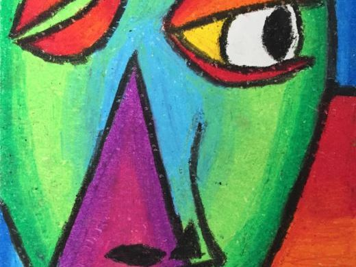 Picasso Inspired Oil Pastel Lesson