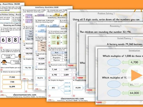 Year 5 Round Within 100,000 Autumn Block 1 Step 6 Lesson Pack