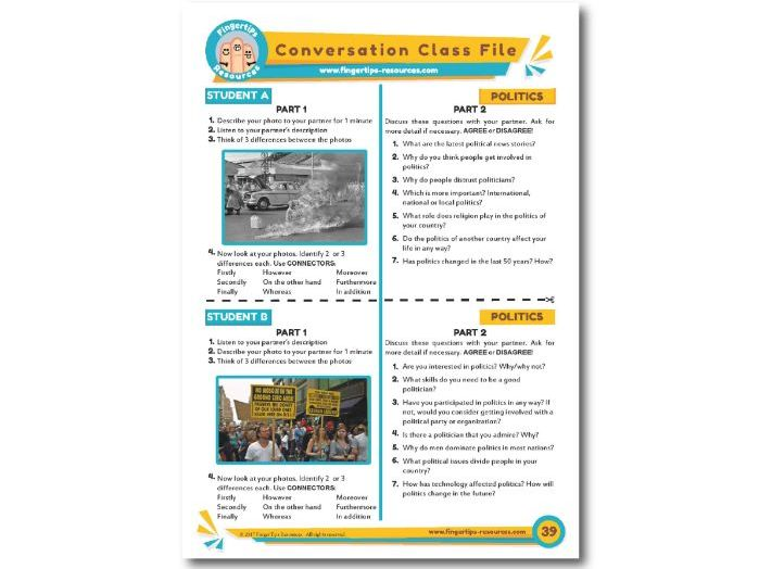 Politics & Government - ESL Conversation Activity