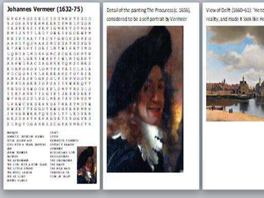 Top 10 Artists and Painters of all time Word Search Pack