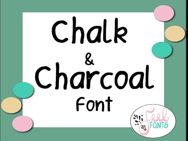 Chalk & Charcoal Font, Chalk Font